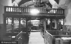 Dolwyddelan, St Gwyddelan Church Interior 1936