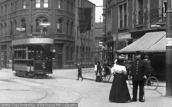 Photo of Doncaster, A Tram In Station Road 1903