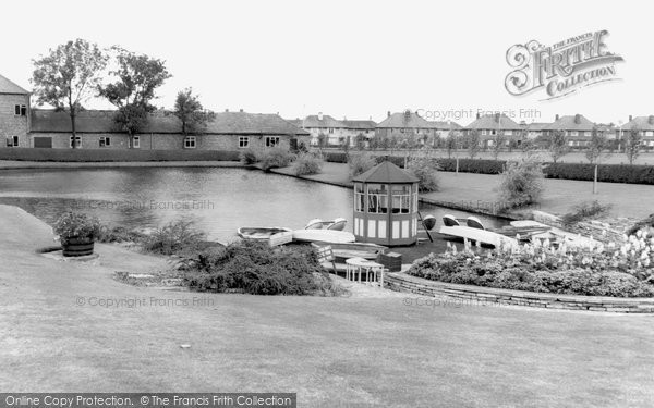 Doncaster, Children's Boating Lake, Sandall Park c1965