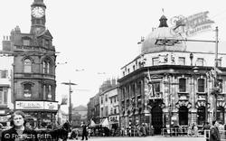 Doncaster, Clock Corner And Baxter Gate c.1950