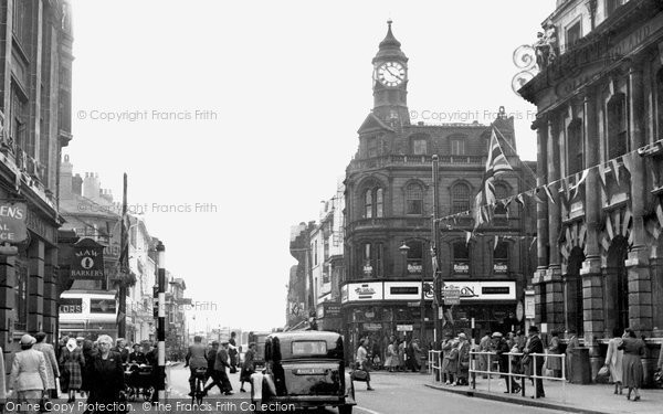 Photo of Doncaster, Clock Corner And Frenchgate c.1950