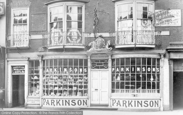 Photo of Doncaster, Parkinson's Shop c.1895