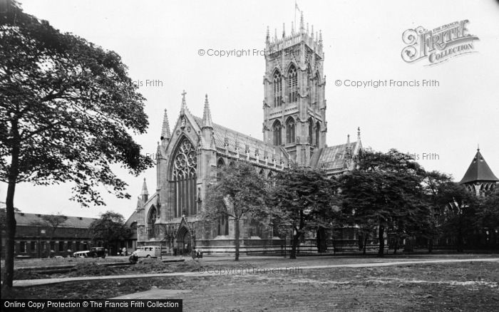 Photo of Doncaster, St George's Church From South West c.1955