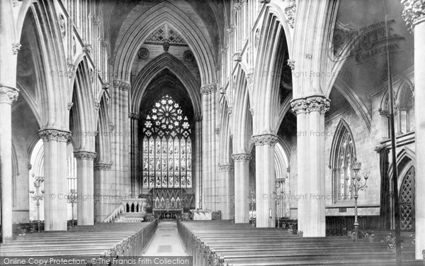 Photo of Doncaster, St George's Church Nave East 1893