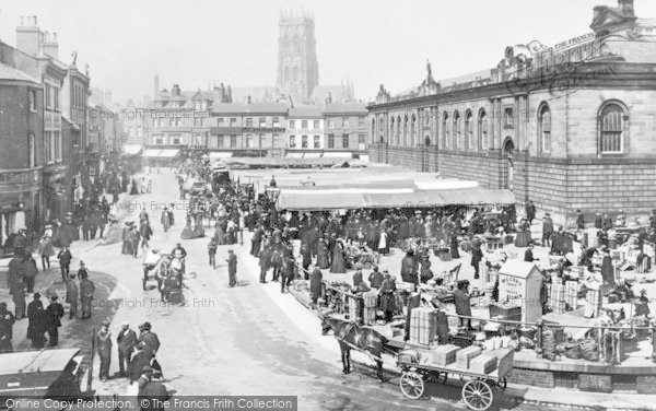Photo of Doncaster, The Market c.1905