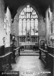 St Mary And The Holy Rood Church Interior c.1960, Donington