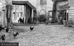 Dorchester, Chickens, George Inn Yard c.1890