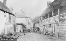 Dorchester, George Inn Yard c.1890