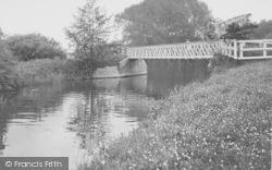 Dorchester, River Thame Entering The Thames c.1955