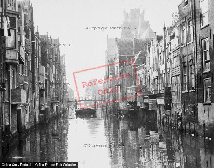 Photo of Dordrecht, Canal c.1930