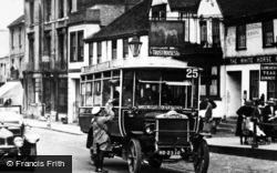Dorking, High Street, Aldershot And District Bus c.1923