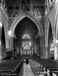 Dorking, St Martin's Church Interior 1890