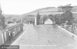 Dorking, The Watermill Swimming Pool c.1960