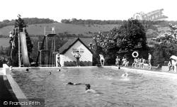 Dorking, The Watermill Swimming Pool c.1965