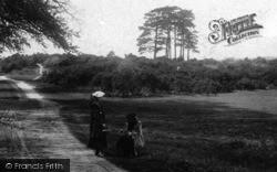 Dorking, Young Women Wearing Berets 1906