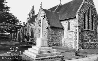 Dormansland, War Memorial and Church of St John the Evangelist c1965