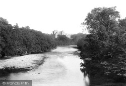 Doune, Castle From Bridge 1899