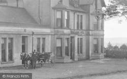 Dousland, A Horse Carriage By The Manor Hotel 1906