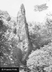 Ilam Rock c.1955, Dovedale