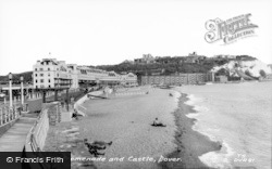 Dover, Beach, Promenade And Castle c.1965