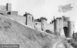 Dover, Castle, Battlements And Constable's Tower c.1950