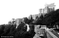 Dover, Castle Keep From The Walls 1890