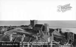 Dover, Church Of St Mary In The Castle And Roman Pharos c.1965