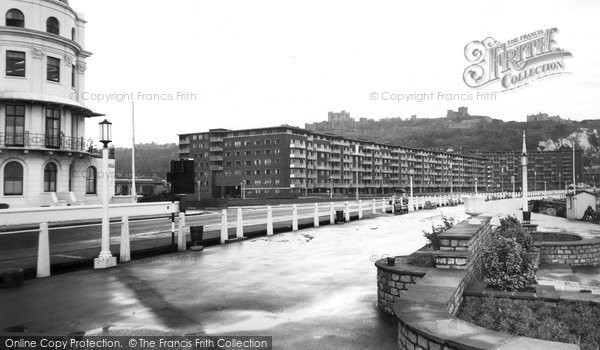 Photo of Dover, Gateway Flats And Eastern Promenade c.1960