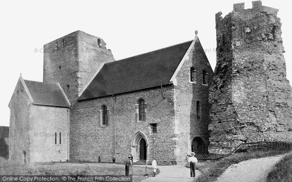 Photo of Dover, St Mary In Castro Church And Pharos c.1874
