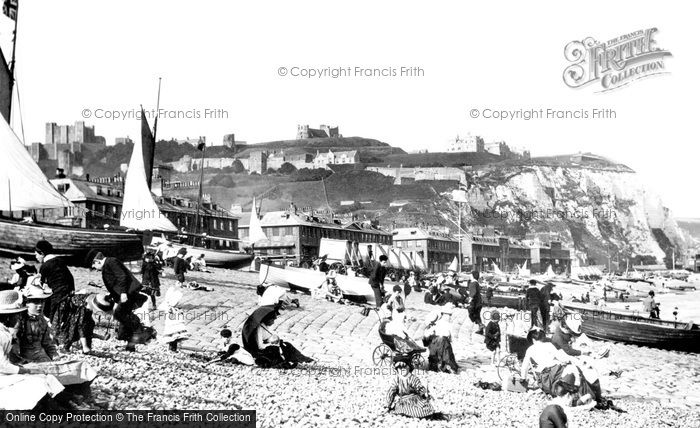 Photo of Dover, The Beach 1890