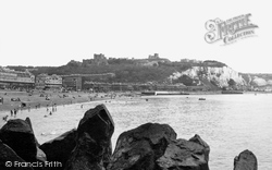 Dover, The Castle From The Harbour c.1955