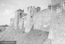 Dover, The Castle Walls c.1955