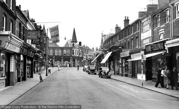 Photo of Dovercourt, High Street 1954, ref. d51028