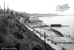 Dovercourt, The Bay Looking North c.1950