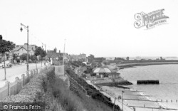 Dovercourt, The Beach From The Cliffs c.1955