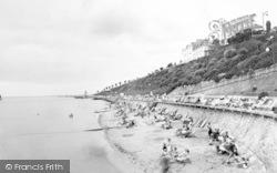 Dovercourt, The Beach Looking West c.1955
