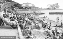 Dovercourt, The Cliff Pavilion And Beach c.1955