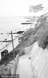 Dovercourt, The Cliffs c.1955