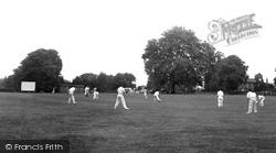 Cricket In The Park c.1955, Downham Market