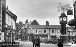 Market Place And Clock c.1950, Downham Market