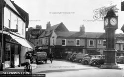 Market Place And Clock c.1955, Downham Market