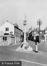 Downham Market, the Memorial c1960