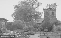 Downham, The Hall, Rose Garden And Church c.1960