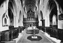 Down Cathedral, Nave And Choir c.1900, Downpatrick