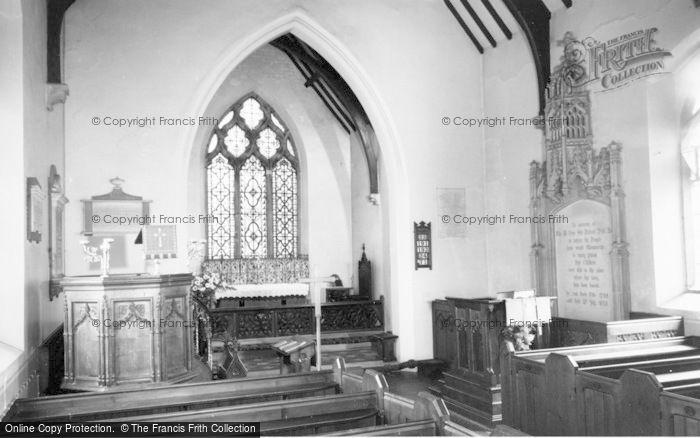 Photo of Drayton Bassett, St Peter's Church Interior c.1965