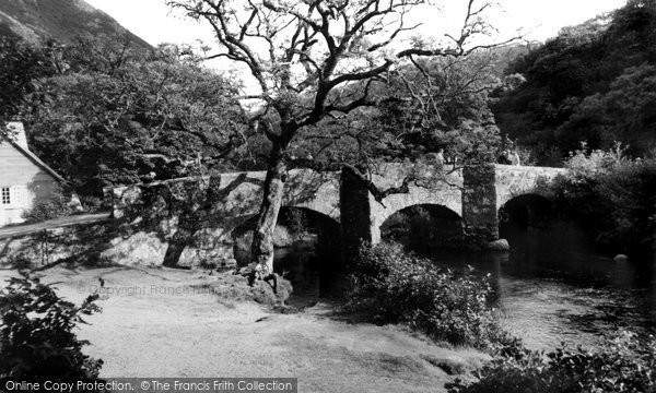 Drewsteignton, Fingle Bridge and Tea Rooms c1960