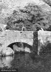 Drewsteignton, On Fingle Bridge c.1960