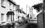 Drewsteignton, the Village c1950
