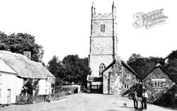 Drewsteignton, Village c.1880