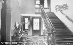 Droitwich Spa, Hall And Staircase, Highfield Hospital c.1935